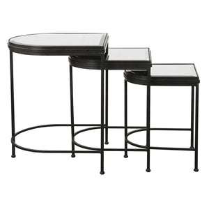 India Nesting Tables, Black, S/3 - taylor ray decor