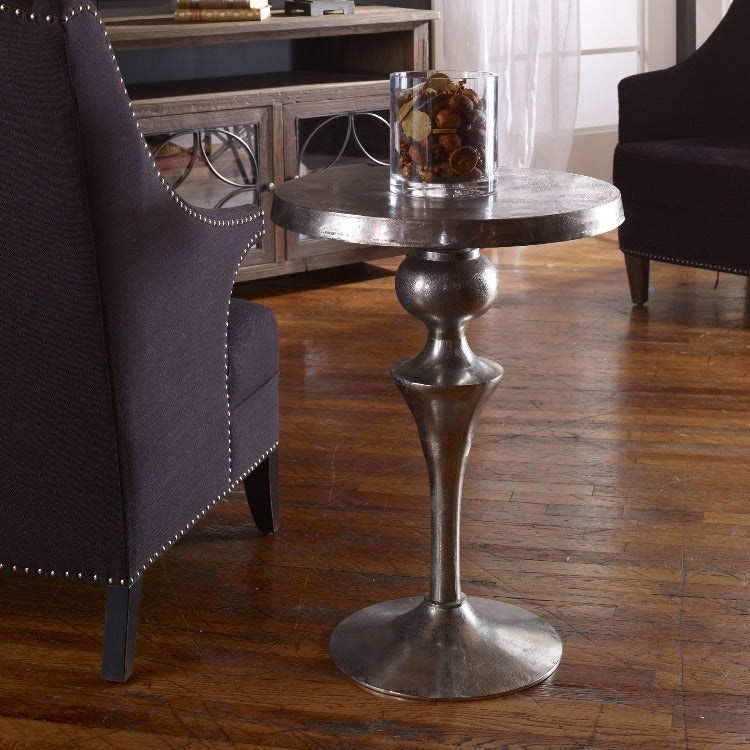 Noland Aluminum Accent Table
