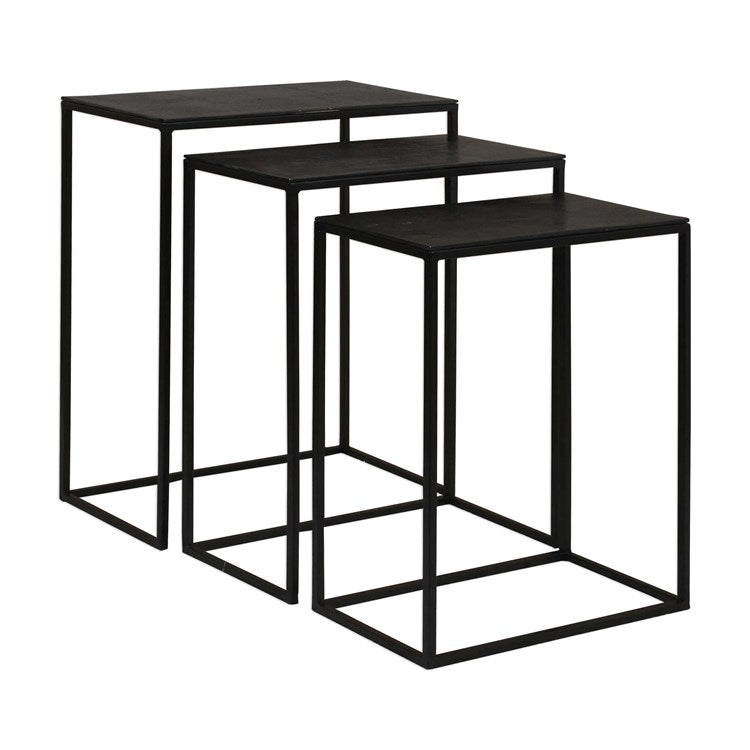 Coreene Industrial Nesting Tables, S/3