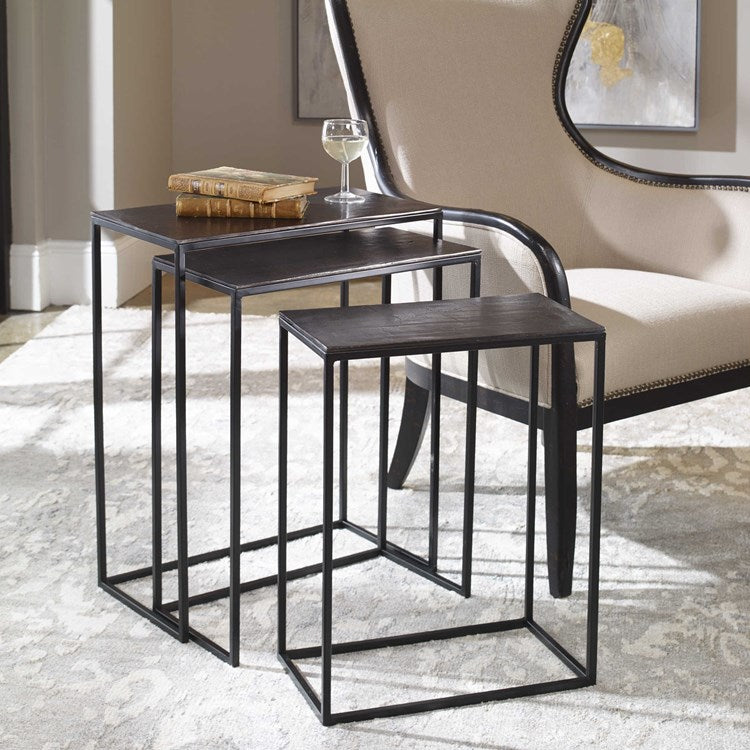 Coreene Industrial Nesting Tables, S/3 - taylor ray decor