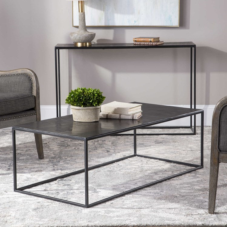 Coreene Industrial Coffee Table - taylor ray decor