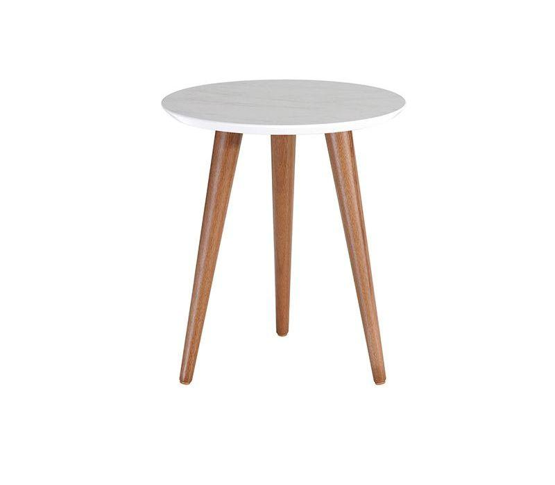"Moore 17.32"" Round End Table in Grey"