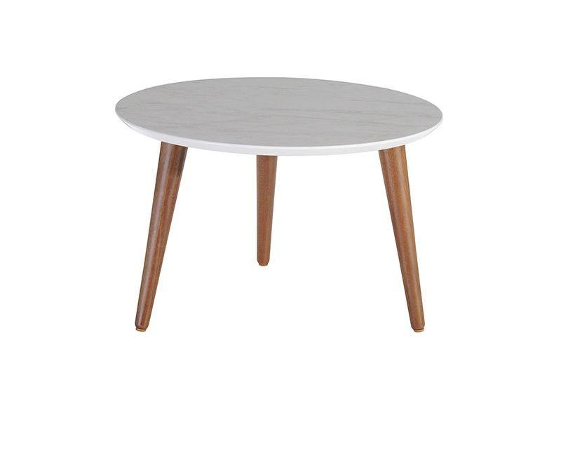 "Moore 23.62"" Round Mid-High Coffee Table"