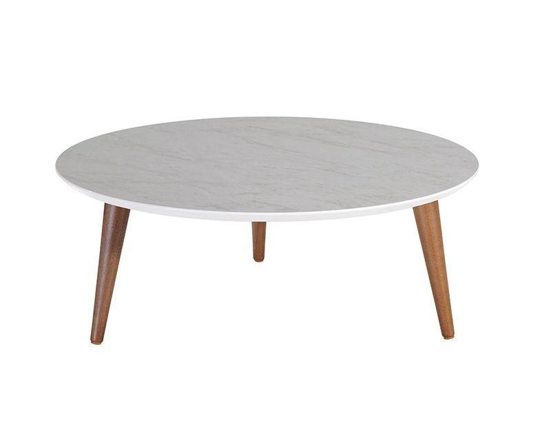 "Moore 23.62"" Round Low Coffee Table in Grey"