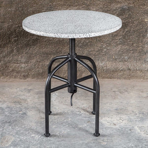 Apsel Industrial Accent Table