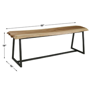 Laurel Rustic Modern Bench - taylor ray decor