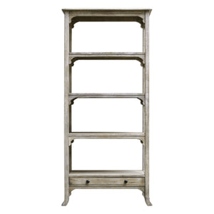 Bridgely Aged White Etagere - taylor ray decor