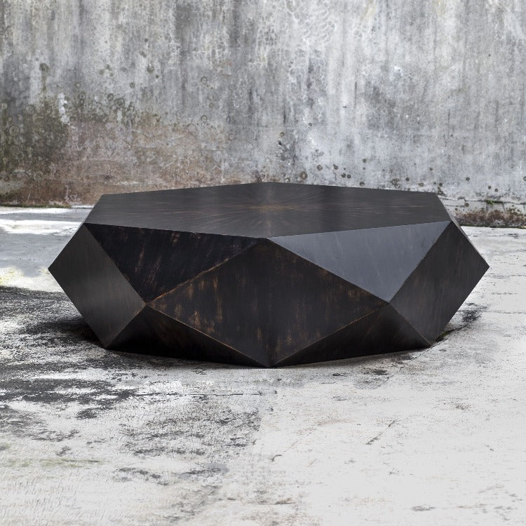 Volker Worn Black Coffee Table