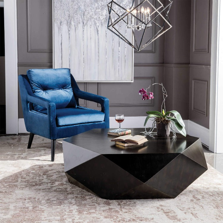 Volker Worn Black Coffee Table - taylor ray decor