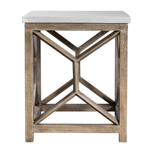 Catali Ivory Stone End Table - taylor ray decor