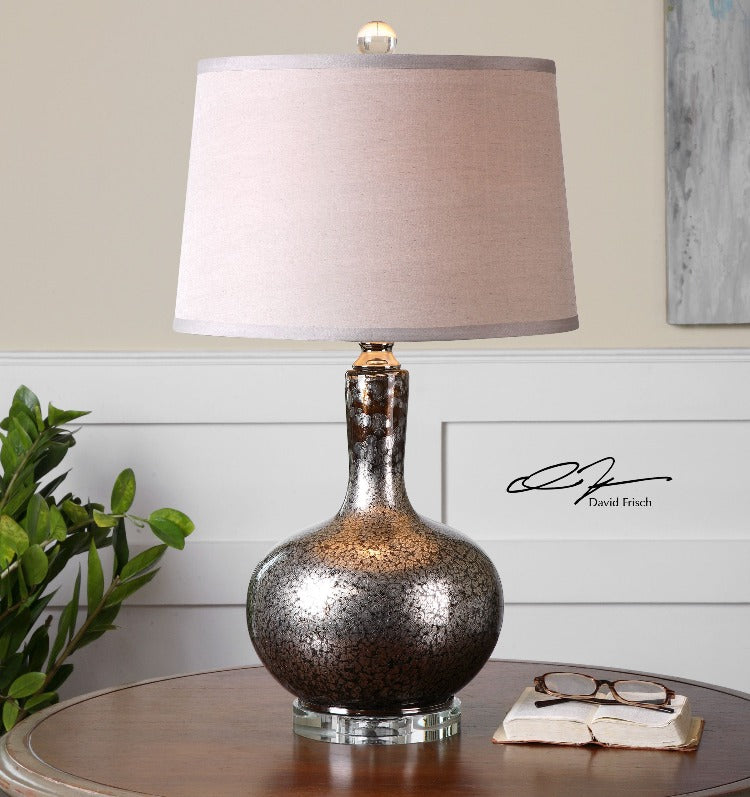 Aemilius Gray Glass Table Lamp