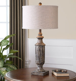 Agliano Aged Dark Pecan Lamp - taylor ray decor