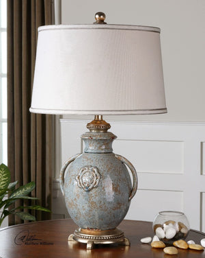 Cancello Blue Glaze Lamp - taylor ray decor