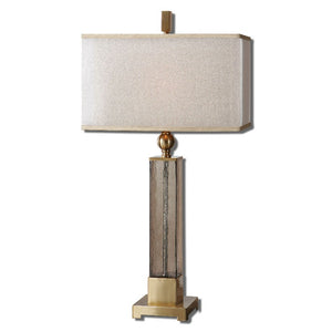 Caecilia Amber Glass Table Lamp - taylor ray decor
