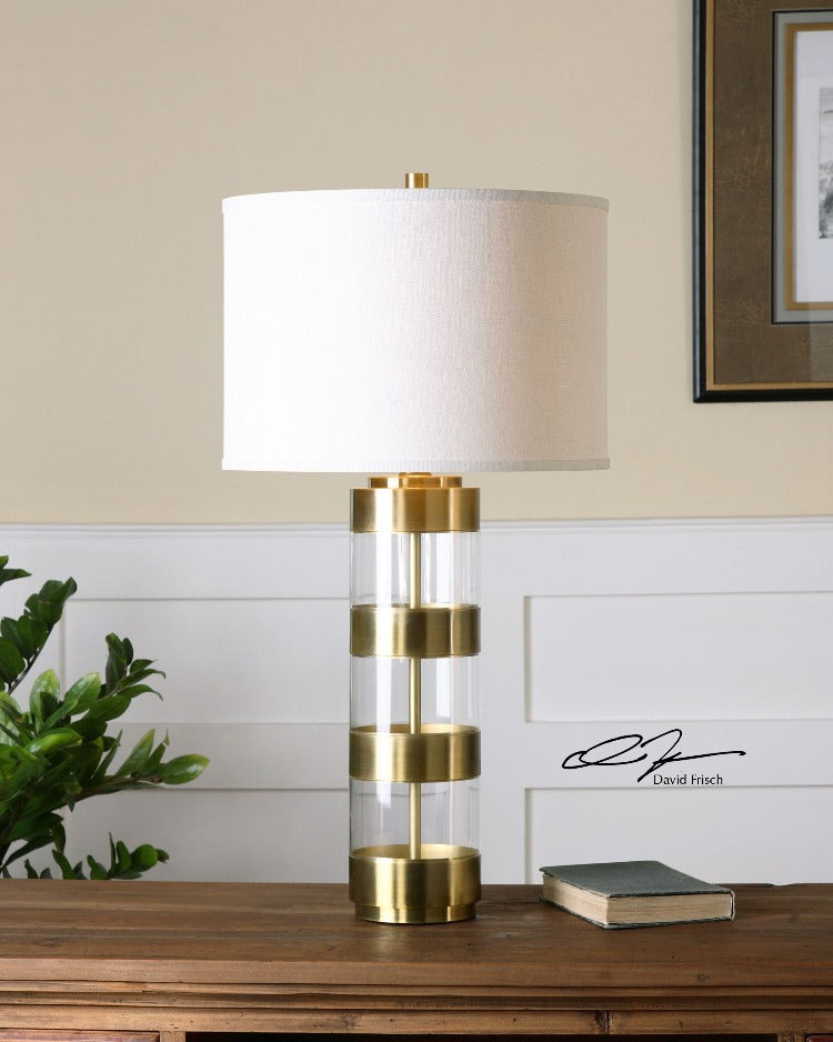 Angora Brushed Brass Table Lamp - taylor ray decor