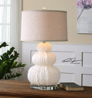 Fontanne Shell Ivory Table Lamp - taylor ray decor