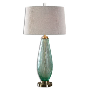 Lenado Sea Green Glass Table Lamp - taylor ray decor