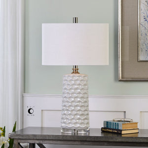 Sesia White Honeycomb Table Lamp - taylor ray decor