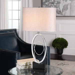 Savant Polished Nickel Table Lamp - taylor ray decor