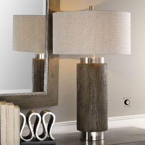 Cheraw Wood Cylinder Lamp - taylor ray decor