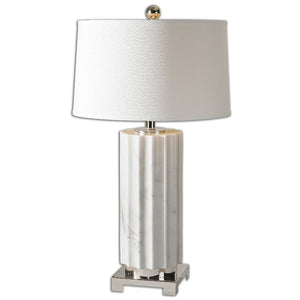 Castorano White Marble Lamp - taylor ray decor