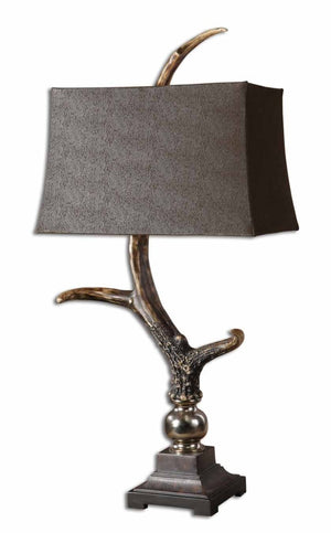 Stag Horn Dark Shade Table Lamp