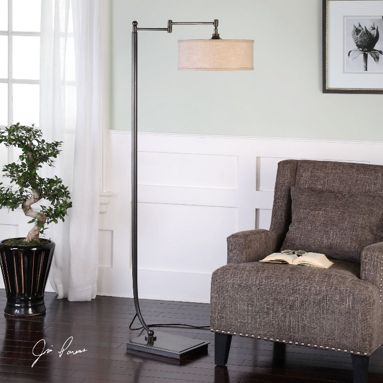 Lamine Dark Bronze Floor Lamp
