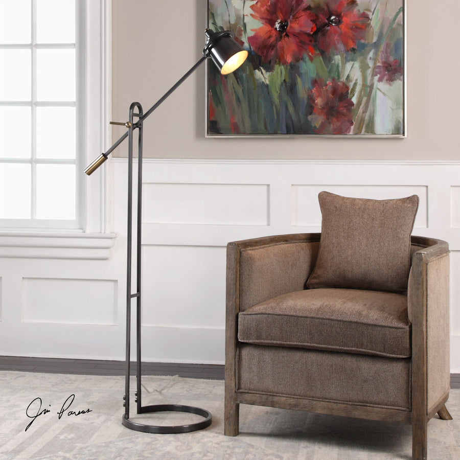 Chisum Dark Bronze Floor Lamp