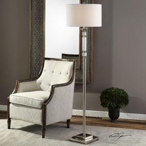 Volusia Nickel Floor Lamp - taylor ray decor