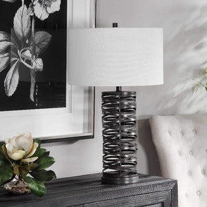 Alita Rust Black Table Lamp - taylor ray decor