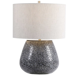 Pebbles Textured Ceramic Table Lamp - taylor ray decor
