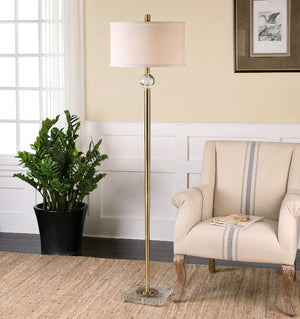 Mesita Brass Floor Lamp - taylor ray decor