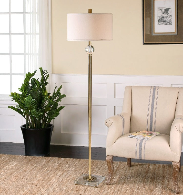 Mesita Brass Floor Lamp