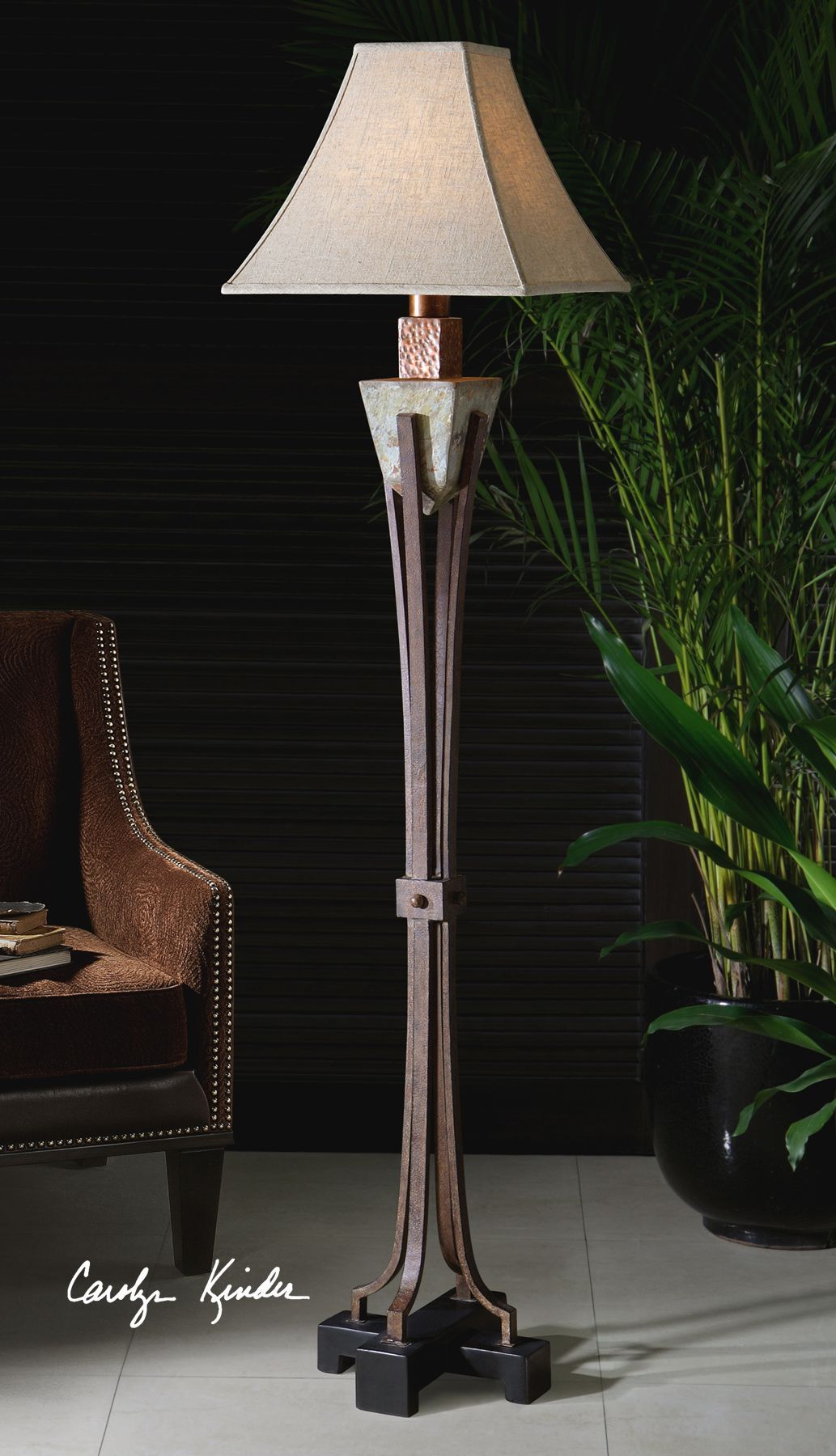 Slate Metal Floor Lamp