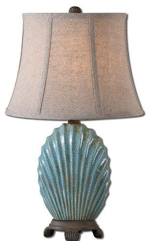 Seashell Blue Buffet Lamp - taylor ray decor