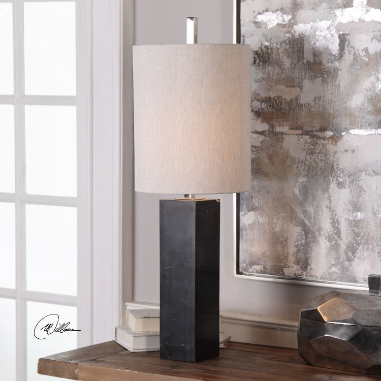 Delaney Marble Column Accent Lamp - taylor ray decor