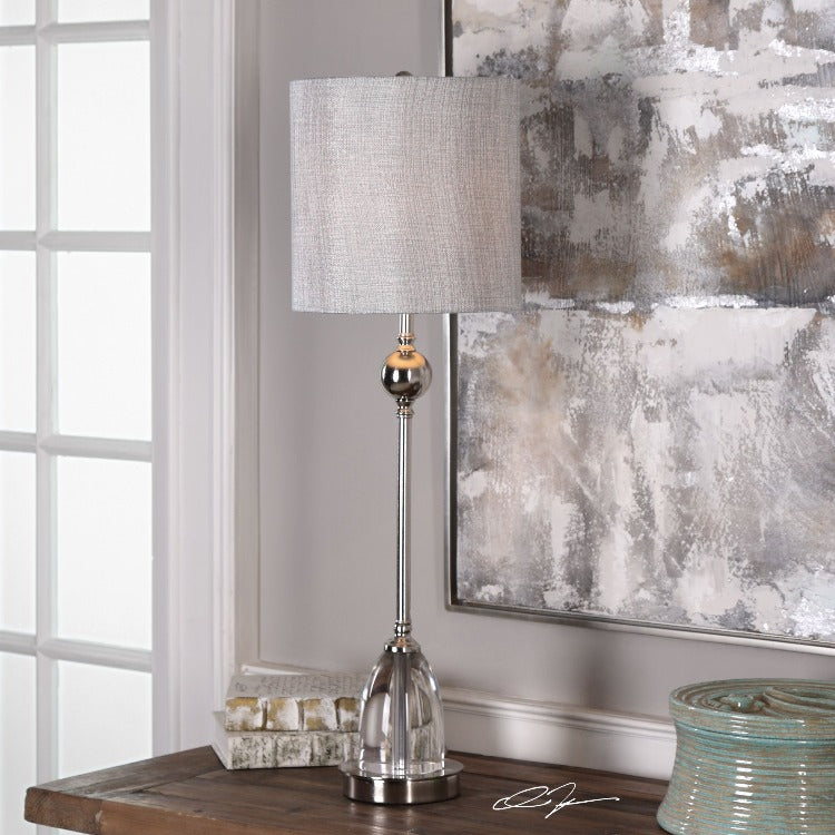 Gallo Nickel Buffet Lamp