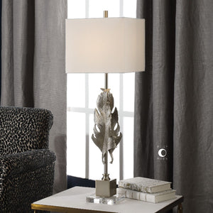 Luma Metallic Silver Lamp