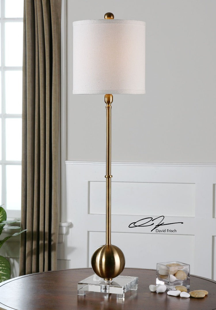 Laton Brass Buffet Lamp