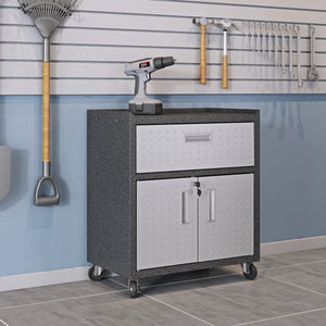 "Fortress 31.5"" Mobile Garage Cabinet with Drawer and Shelves - taylor ray decor"