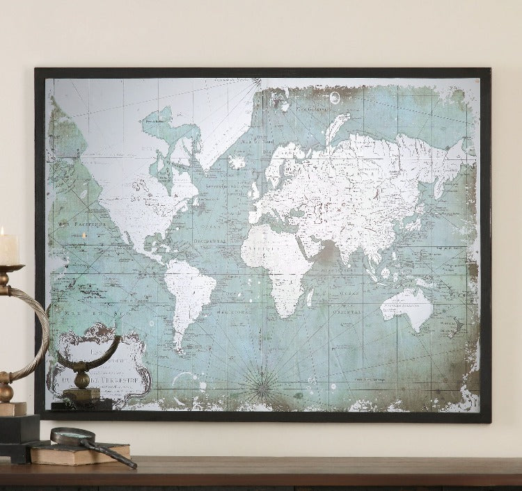 Mirrored World Map - taylor ray decor