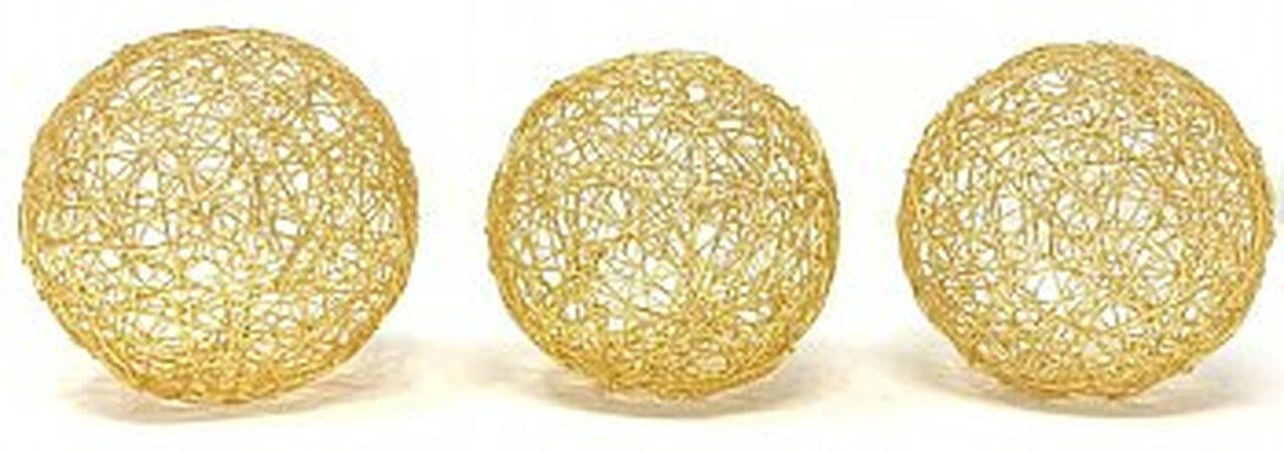 "Guita Gold Wire Spheres/5""D - Box of 3"