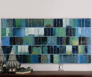 Glass Tiles Modern Art - taylor ray decor