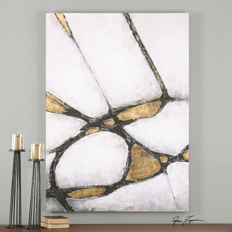 Abstract Art In Gold And Black