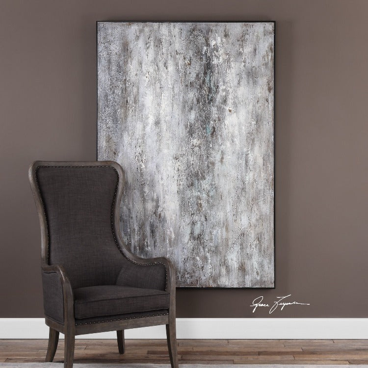 Quake Modern Hand-Painted Art - taylor ray decor
