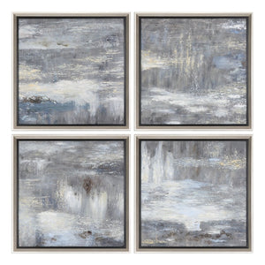 Shades Of Gray Hand Painted Art S/4 - taylor ray decor