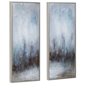 Rainy Days Hand Painted Canvases, S/2 - taylor ray decor