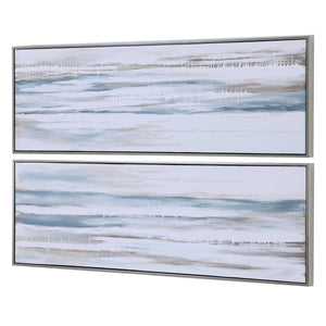 Drifting Hand Painted Canvases, S/2 - taylor ray decor