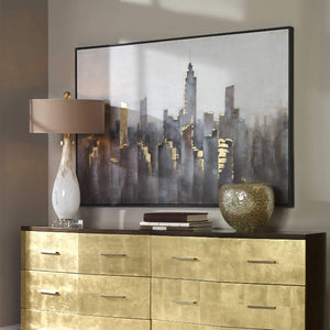 Skyline Hand Painted Modern Canvas - taylor ray decor