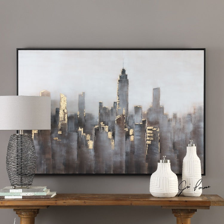 Skyline Hand Painted Modern Canvas